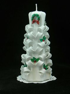 Check out this item in my Etsy shop https://www.etsy.com/listing/214603156/hand-carved-candle-white-christmas-tree