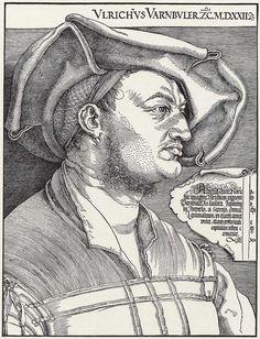 Artist: Dürer, Albrecht, Title: Porträt des Ulrich Varnbüler [2], Date: 1522