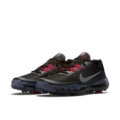Nike Men s TW15 Golf Shoes - Black White Chilling Red Dark Grey - e5db2a3b512