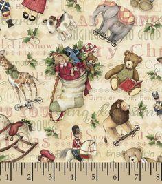 Holiday Inspirations Fabric- Susan Winget Vintage Toys TossedHoliday Inspirations Fabric- Susan Winget Vintage Toys Tossed,
