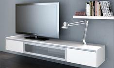 Syneyside Furniture FSL24.109 | 2.4 metre floating entertainment unit in Alpine Vanilla Satin