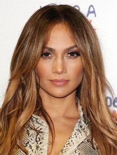 The 10 Most Gorgeous Hair-Color Ideas for Brunettes: Caramel Brown Brunette Jennifer Lopez | allure.com