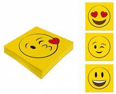 Serviette 33x33 cm Smiley · Emoticon 4 verschiedene Motive zur Auswahl • Partyserviette Geburtstagsserviette (Motiv lachender Smiley): Amazon.de: Küche & Haushalt