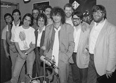 MAGE MUSIC: 1986 Jimmy Page with staff of WYNF Tampa Radio