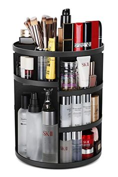 Purchase 360 Rotating Makeup Organizer, DIY Adjustable Bathroom Makeup Carousel Spinning Holder Rack, Large Capacity Cosmetics Storage Box from imomoi on OpenSky. Share and compare all Beauty. Vanity Organization, Handbag Organization, Bedroom Organization, Makeup Brush Cleaner, Makeup Brush Set, Gifts For Makeup Lovers, Rangement Makeup, Vanity Shelves, Design Apartment
