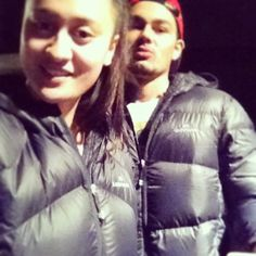 "@aki_nelson's photo: ""Thanks Aunty me & @nate_kopua love our jackets #presents #Kathmandu #twinning #nz #nomorecoldnights #winning """