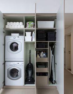Laundry Cupboard, Mudroom Laundry Room, Laundry Room Layouts, Laundry Room Remodel, Laundry Room Organization, Utility Room Storage, Utility Closet, Utility Room Designs, Modern Laundry Rooms