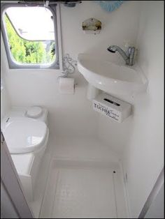I LOVE this little RV bathroom (and you should see the before pictures too:)