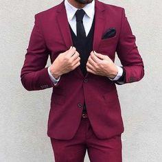 Classy Burgundy  Blazer For Men
