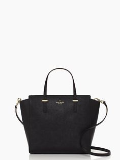 Kate Spade: Cedar Street Hayden Bag: This black bag is perfect for the office! It is roomy for some files, IPad, wallet, snack, make up, etc. This bag comes in multiple colors that are all fabulous: white, bright blue, red, mint, and two color block choices.