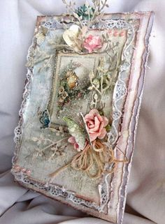 Bedroom Vintage Master Shabby Chic 50 Ideas For 2019 Shabby Chic Paper, Shabby Chic Cards, Vintage Shabby Chic, Shabby Chic Journal, Mixed Media Cards, Decoupage Vintage, Vintage Tags, Bedroom Vintage, Vintage Easter