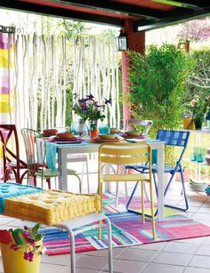 Patio Gardens with Colorful Space