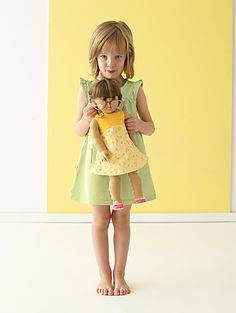 Spring Sewing from the Little Things to Sew book. Matching Tea Party Sundresses.
