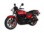 Kawasaki GPZ750 Motorcycle Free Vehicle Paper Model Download