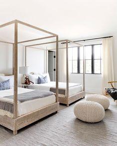 Beautiful contemporary bedroom in the Hamptons.
