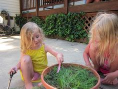 The Art of Outdoor Play: Just a trim! from The Artful Child