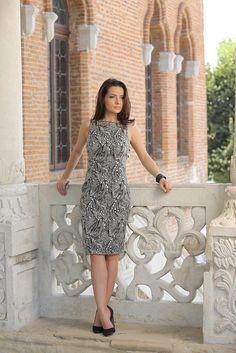 Graphic prints dress #womensfashion #yokko #style