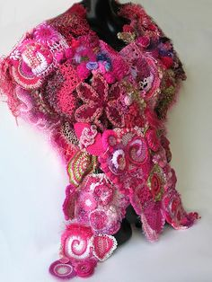 Hot Pink Freeform Wrap - front view by freeform by prudence, via Flickr