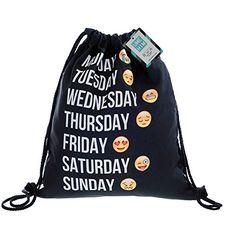 Mani 3d Nylon Drawstring Bags, Black Drawstring Backpack Week Emoji, Unisex String Backpacks Pattern Pull String Backpack Mani http://www.amazon.com/dp/B017NNQ1YK/ref=cm_sw_r_pi_dp_YNQJwb1C27GGS