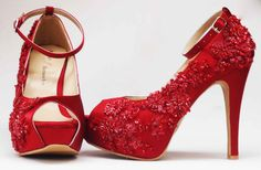 Zapatos de Novia, Rodrigo Hernández Color Rojo con Encaje Búscanos en Facebook Rodrigo Hernandez