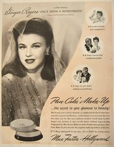 Image detail for -Original vintage magazine ad for Max Factor Pancake Makeup featuring ...