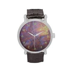 Sold on Zazzle! Rusty Metal Tin Roof Watches: This Vintage leather strap (many other styles to choose from) wrist watch features a photograph of a rusty metal from a tin roof. The metal is rusting and the colors are beautiful (browns, oranges and greens with a hint of blue). #rusty #metal #leatherwatch #watch #soldonzazzle