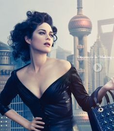 The Look:Marion Cottilard in Shanghai for a Lady Dior ad