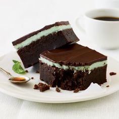 Chocolate-Mint Bars by cookinglight #Chocolate #Mint #Bar_Cookie #Light