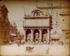 Piazza San Bernardo – Fontana dell'Acqua Felice Anno: 1880 ca. Rome, Taj Mahal, San Bernardo, Building, Travel, Viajes, Buildings, Destinations, Traveling