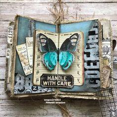 Fabric journal - Scrapbook.com Handmade Journals, Handmade Books, Handmade Rugs, Handmade Crafts, Bullet Journal Art, Junk Journal, Prima Marketing, Fabric Journals, Art Journals
