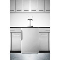 Summit SBC490BISSBTWIN Double Faucet Built-in Kegerator - Stainless Steel