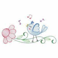 Rippled Love Birds - Wind Bell Embroidery | OregonPatchWorks