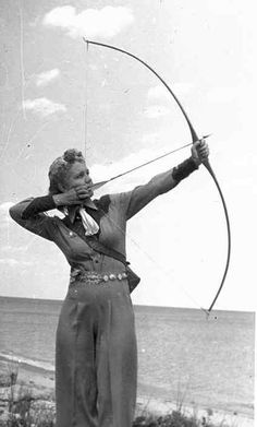 Famous archer Babe Bitzenburger