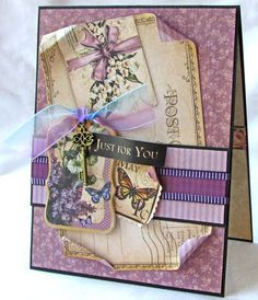 "Try this May Place in Time ""Just For You"" card with a printable project sheet #graphic45 #projectsheets #tutorials"