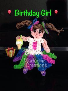 Rainbow loom birthday Doll
