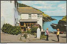 The Lugger Hotel, Portloe, Cornwall, c.1960s - Postcard