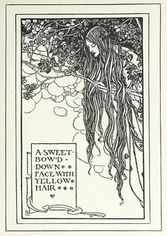 Illustration by Florence Harrison, from Early poems of William Morris, New-York, 1914. Via archive.org.
