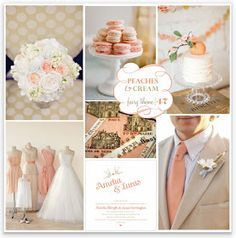 Fairy Forecast Theme 47 Peaches Cream Wedding Color Schemes