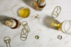 Geometric Brass Bottle Openers by Fort Standard