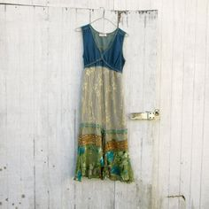 small  medium  Upcycled clothing / summer denim dress by CreoleSha, $77.99