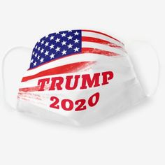 American Flag with Trump 2020 Cotton Face Mask - typography gifts unique custom diy