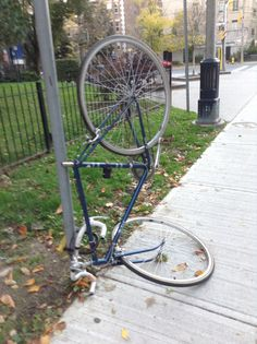 The bicycle at its lowest point yet