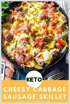 You must try to cook this Keto Cheesy Cabbage Because it's super Delicious. ~ ALL YOU NEED IS JUST CLICK THROUGH TO SEE! ~ Keto   Ketogenic Diet   Keto Recipes   Keto Dinner Recipes   Keto Snacks   Keto Breakfast   Keto Diet Meal Plan   Keto Diet For Beginner Healthy Diet Recipes, Ketogenic Recipes, Low Carb Recipes, Cooking Recipes, Keto Snacks, Ketogenic Diet, Skillet Recipes, Cooking Tips, Skillet Food