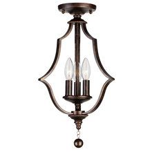 View the Crystorama Lighting Group 9350-C Parson 3 Light Semi-Flush Ceiling Fixture at LightingDirect.com.