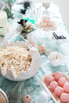 Sweet & snack spread from a Majestic Under the Sea Birthday Party on Kara's Party Ideas | KarasPartyIdeas.com (21)