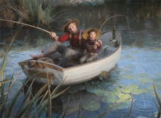 "@Edward Keller - Just for you dear. . . and Jeremy!    Greenwich Workshop - ""The Fishing Hole"" by Morgan Weistling Art Prints"