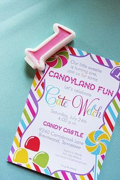 Candyland Birthday Invitation | Nico and Lala