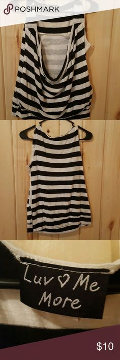 Striped tank Striped baggy tank with built in tank. Worn several times one summer . Still in good condition Tops Tank Tops
