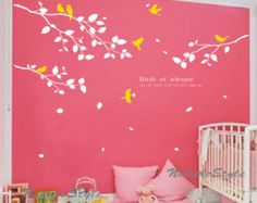 AST fliegenden Vögel - Vinyl Wand Aufkleber, Sticker, Natur-Design