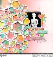 Shimmerz Education Team Project - featuring Coloringz, Vibez, Shimmerz original, & Inklingz (full list used on the blog); Folded Circles cut file by Paige Evans; embellishments from Amy Tangerine